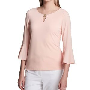 💙Calvin Klein Bell Sleeve Blouse NWT $79!